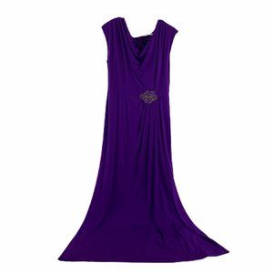 David Meister Purple Embellished Formal Dress 12